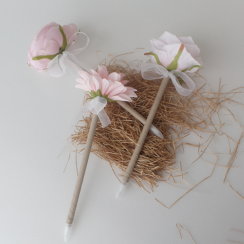 Light Pink Peony Flower Pen ,Wedding Guest Book Pens,Rustic Wedding,Flower Pen,wedding pen,Wedding Decor,Rustic Pen Guest Book,Only[B]style