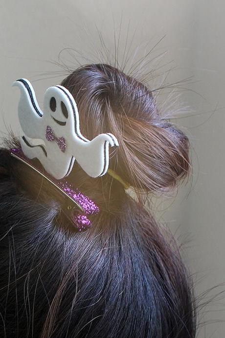Free shipping, Free shipping,Halloween Hair Clip , Ghost Hair Clip,Ghost